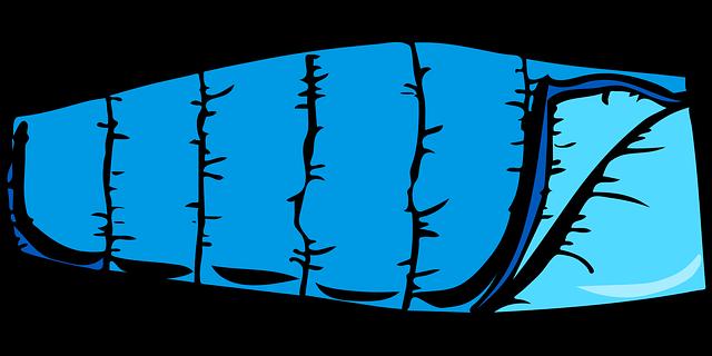 modrý spacák