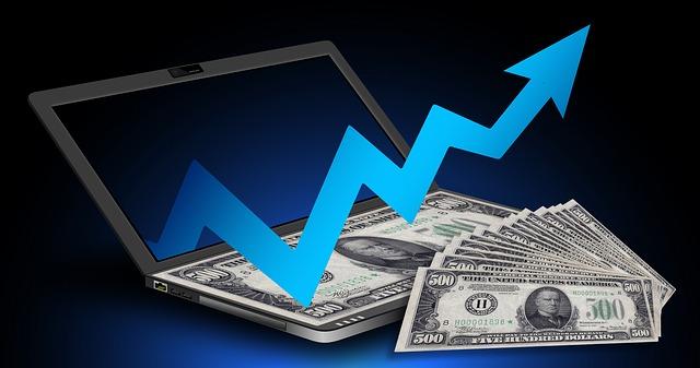 peníze a graf